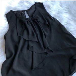 • BCX • Sheer Black Bow Front Blouse